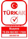 türkak akreditasyon sertifikamız